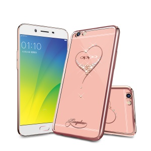 KINGXBAR Star Series Diamond Plated PC Case for Oppo R9s Plus - Rose Gold Edge / The Wish of the Stars