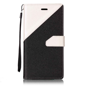 For Oppo A59 assorted Color Foldable Sand-like Grain Leather Mobile Phone Casing - White