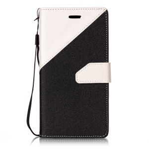 For OPPO A33 assorted Color Foldable Sand-like Grain Leather Phone Case - White
