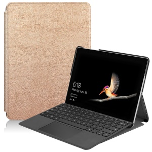 Stand Leather Protection Tablet Cover for Microsoft Surface Go - Rose Gold