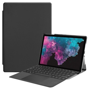 Folio PU Leather Protection Stand Case for Microsoft Surface Pro 6/5/4 - Black