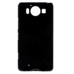 Solid Color Jelly TPU Case Cover for Microsoft Lumia 950 - Black