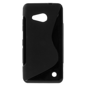 S Shape Flex TPU Case Cover for Microsoft Lumia 550 - Black