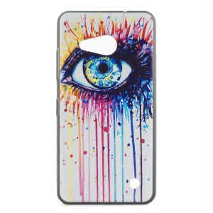 Embossed Surface Matte Inner Hard Cover for Microsoft Lumia 550 - Colorized Eye