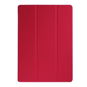 Tri-fold Stand Leather Case Cover for Microsoft Surface Pro 4 - Red