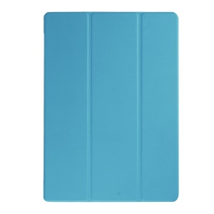 Tri-fold Leather Stand Cover for Microsoft Surface Pro 4 - Baby Blue
