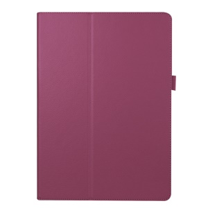 Lychee Leather Cover for Microsoft Surface Pro 4 with Stand - Purple