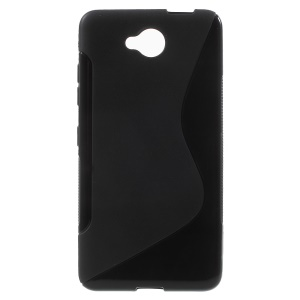 S Shape TPU Case for Microsoft Lumia 650 - Black