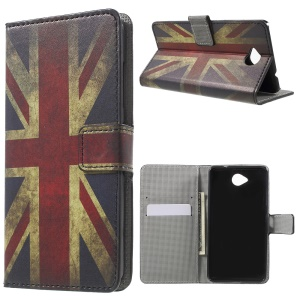 Wallet Leather Cover for Microsoft Lumia 650 with Stand - Retro UK Flag