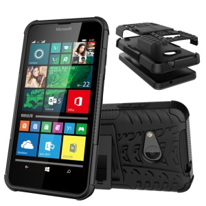 Tyre Pattern PC + TPU Hybrid Case for Microsoft Lumia 550 - Black