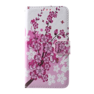 Callfree Leather Protective Case with Stand for Microsoft Lumia 650 / Dual - Wintersweet Flowers