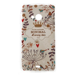 Softlyfit Embossed TPU Case for Microsoft Lumia 535 / 535 Dual SIM - Minimal Among Diary Floral