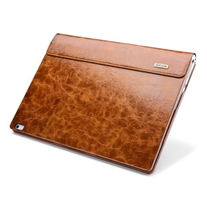 ICARER for Microsoft Surface Book Oil Wax Genuine Leather Cover Full Body Protection - Brown