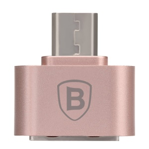 BASEUS Plug-and-Play 2.1A Micro OTG Adapter Converter - Rose Gold