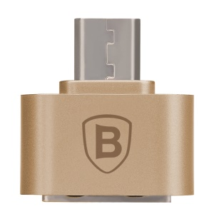 BASEUS Plug-and-Play 2.1A Micro OTG Adapter Converter - Gold