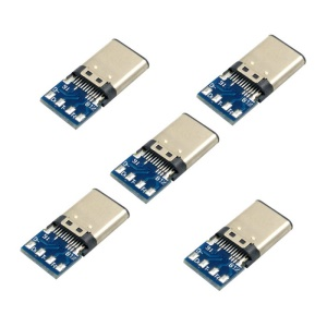 5pcs USB 3.1 Type C Male Connector SMT Type Attached with PC Board