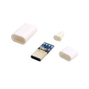 USB 3.1 Type-C Male Connector SMT Type Attached with PC Board