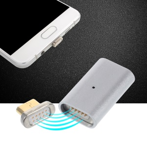 Magnetic Quick Connect Micro USB Adapter Converter for Micro USB Data Sync Charge Cable - Silver