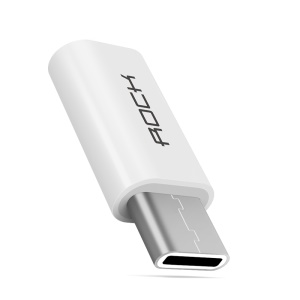 ROCK Type C to Micro USB Adapter Converter - White