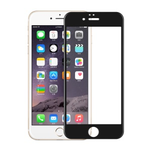 For iPhone 6 Plus / 6s Plus 0.3mm 2.5D Carbon Fiber Tempered Glass Full Screen Protector - Black