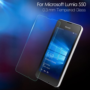 For Microsoft Lumia 550 0.3mm Tempered Glass Screen Protector Film Anti-explosion