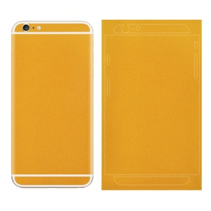 Matte Glittery Powder Back Decal Sticker Film for iPhone 6 6s 4.7 inch - Orange