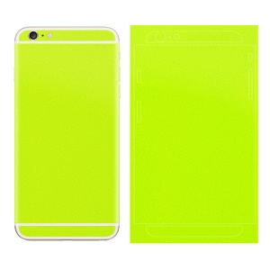 Matte Glittery Powder Back Decal Sticker for iPhone 6 Plus / 6s Plus - Yellowgreen