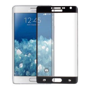 Complete Covering Tempered Glass Screen Protector for Samsung Galaxy Note Edge N915 - Black