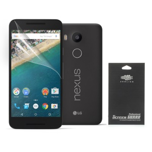 Transparent Clear Screen Protector for LG Nexus 5X (Black Package)