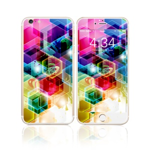 FEMA for iPhone 6s Plus / 6 Plus Front + Back 6D Colorful Laser Tempered Glass Screen Films - Colorful Geometric Pattern