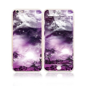 FEMA Front + Back 6D Colorful Laser Tempered Glass Screen Protector for iPhone 6s Plus / 6 Plus - Purple Night