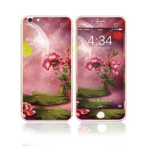 FEMA for iPhone 6s Plus / 6 Plus Front + Back 6D Colorful Laser Tempered Glass Screen Guard - Charming Roses
