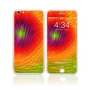 FEMA Full Size 6D Colorful Laser Tempered Glass Screen Guards Front + Back for iPhone 6s Plus / 6 Plus - The Sun