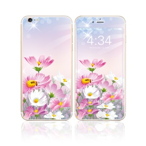 FEMA for iPhone 6s Plus / 6 Plus Front + Back 6D Colorful Laser Tempered Glass Protective Films - Daisy Flowers