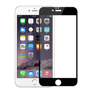 0.3mm Silk Print Tempered Glass Screen Protector for iPhone 6s Plus/6 Plus - Black
