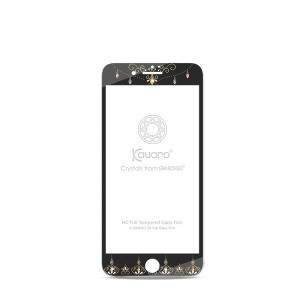 KAVARO Dream Series de vidrio templado de pantalla completa Guard Film para iPhone 7 Plus - Negro / corona