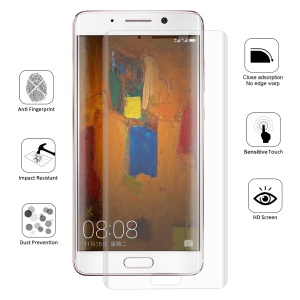 HAT PRINCE Complete Coverage Plated 3D Arc Edge 0.1mm Soft Protective Films for Huawei Mate 9 Pro