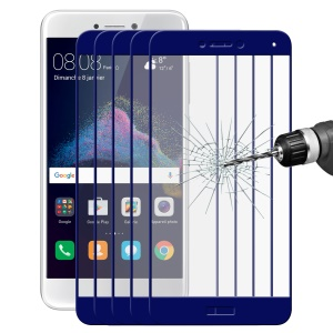HAT PRINCE 5 Pcs/Set 0.26mm Full Coverage Tempered Glass Arc Edge Screen Film for Huawei P8 Lite (2017) / Honor 8 Lite - Blue