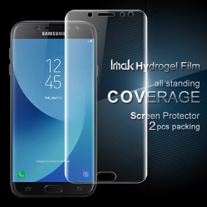 IMAK 2Pcs Full Screen Soft Hydrogel Protector Films for Samsung Galaxy J7 (2017) EU Version