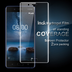 IMAK 2Pcs Full Screen Complete Covering Soft Hydrogel Protector Film for Nokia 8