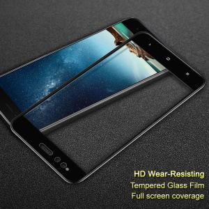 IMAK Full Coverage Tempered Glass Screen Protector Film Protective Skin for Xiaomi Mi A1 / 5X - Black