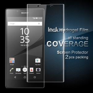 IMAK 2Pcs Packing Full Screen Complete Covering Soft Hydrogel Protector Film for Sony Xperia L1