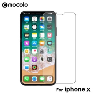 MOCOLO for iPhone X/Ten 5.8-inch Clear Tempered Glass Screen Protector Guard Arc Edge