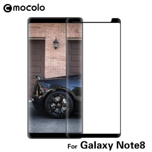 MOCOLO for Samsung Galaxy Note 8 3D Curved Tempered Glass Screen Protector (Opening on Top) - Black