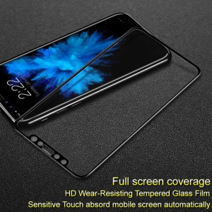 IMAK for iPhone X 5.8-inch HD Full Coverage Tempered Glass Screen Protector Guard - Black