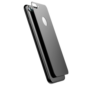BASEUS 0.3mm Matte 3D Full Glue Tempered Glass Back Protector for iPhone 8 Plus / 7 Plus - Black