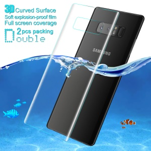 IMAK 2Pcs Explosion-proof Soft 3D Curved Back Protector Films for Samsung Galaxy Note 8 N950