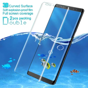 2Pcs IMAK für Samsung Galaxy Note 8 N950 Explosion-proof Soft-3D Curved Full-Coverage-Screen Protector-Film