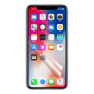HD Clear LCD Screen Protector for iPhone X 5.8-inch (Black Package)