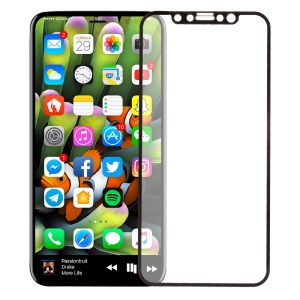 Full Coverage Tempered Glass Protector Film for iPhone X 5.8-inch - Black